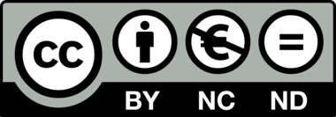 Creative Commons, Attribution-NonCommercial-NoDerivatives 4.0 International (CC BY-NC-ND 4.0) logo