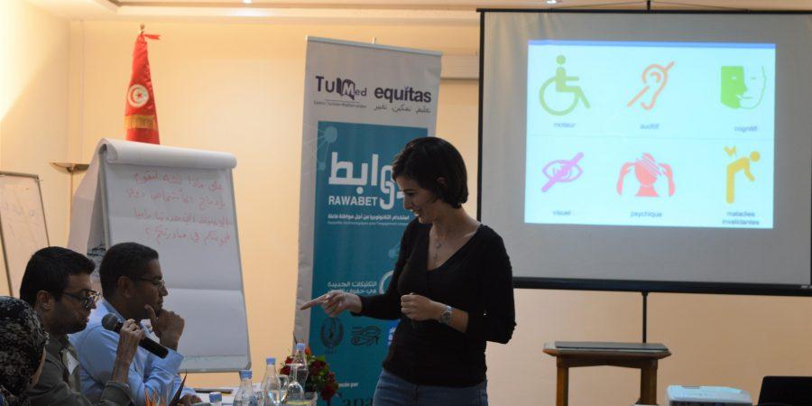 ورشة عمل حول إدماج الأشخاص ذوي الإعاقة A workshop on the inclusion of Persons with disability