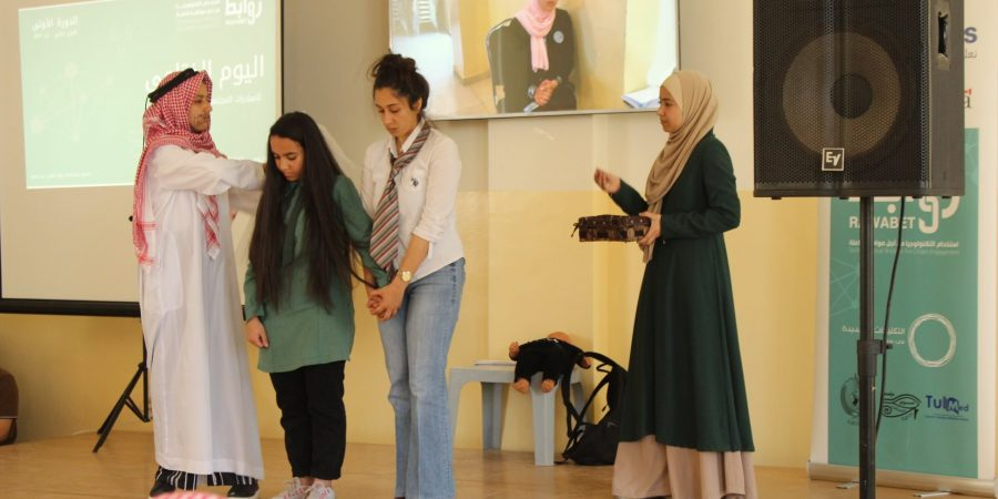 a play by the girl's students in Jordan about early marriage